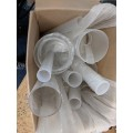 Clear and Frosted Acrylic Tube Mixed Box of various sizes BOX 17 (please see photograph)